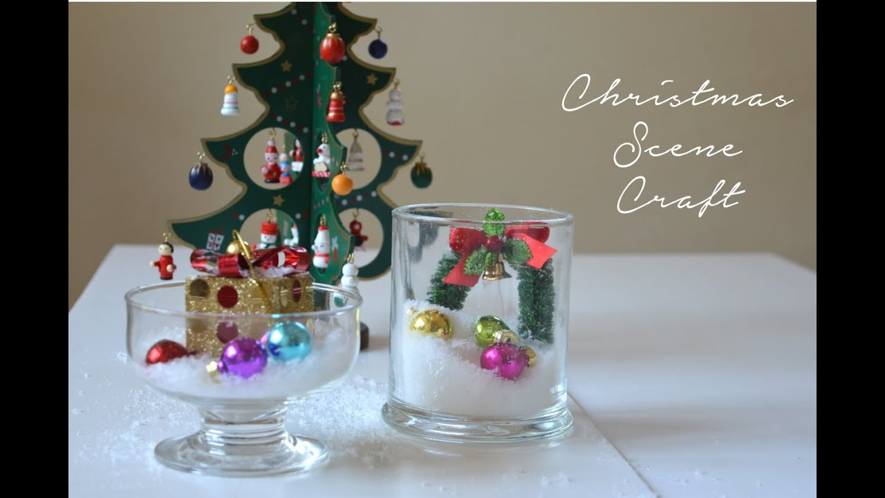 DIY Christmas Scene Decoration | Cheap & Easy Christmas Decor - YouTube
