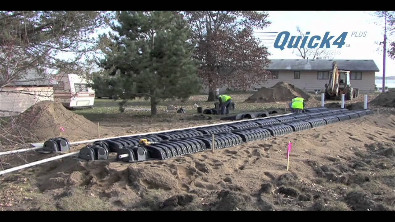 Septic Mound System Installation Using Infiltrator