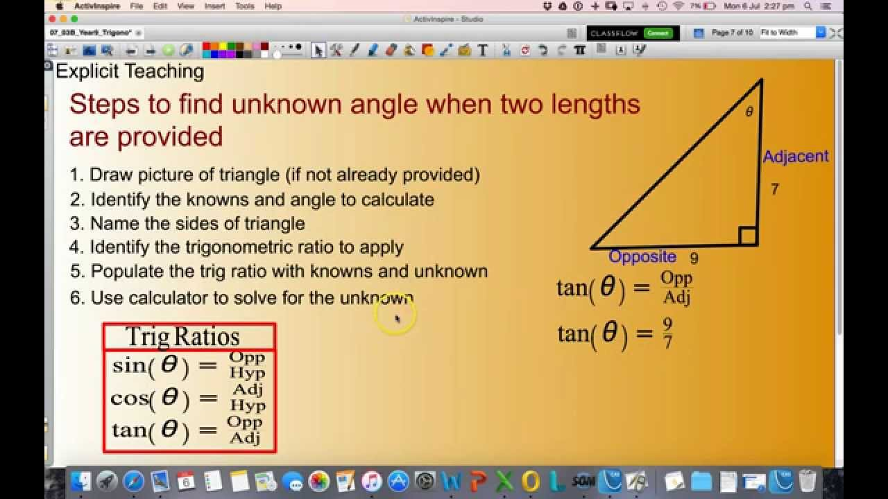 Calculate the unknown angle in a right angled triangle youtube calculate the unknown angle in a right angled triangle publicscrutiny Images
