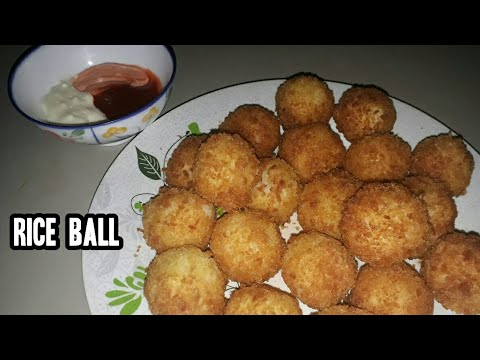 RICE BALL | Simple Left Over Rice To DELICIOUS RICE BALL With A TWIST | DIY | STEP BY STEP