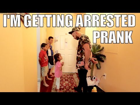 I'M GETTING ARRESTED PRANK *gone wrong*