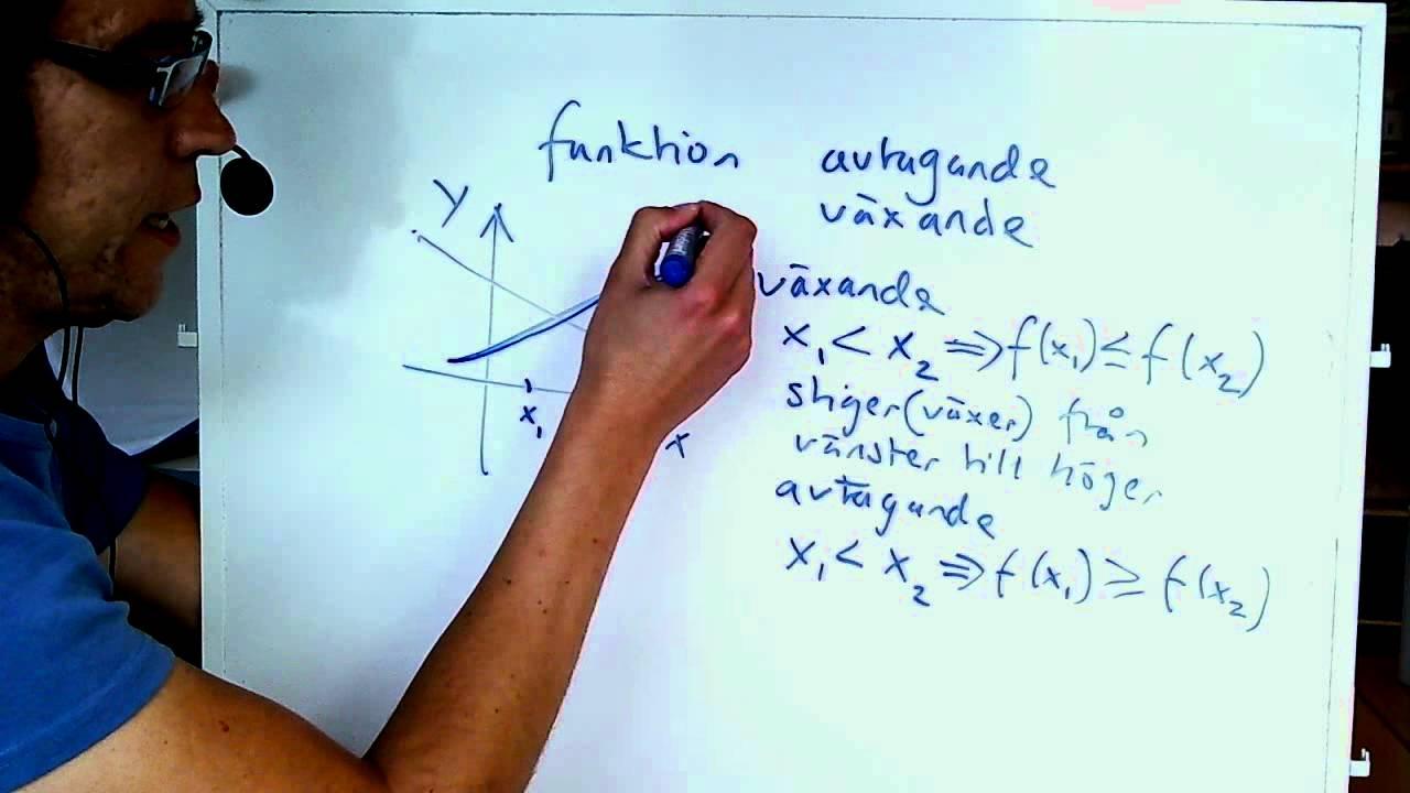 Matematik 3c växande och avtagande funktioner
