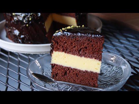 Όλοι θα σας ζητάνε συνταγή! Τούρτα με Αφράτο Παντεσπάνι και Κρέμα Βανίλιας  - Vanilla Chocolate Cake