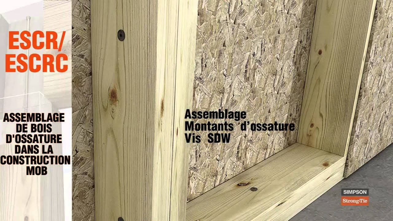 escr sdw assemblage bois d 39 ossature mob youtube. Black Bedroom Furniture Sets. Home Design Ideas