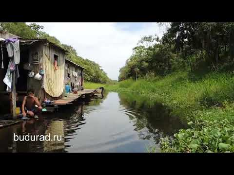 Shallow water boat trip from Rio Negro to Amazon river