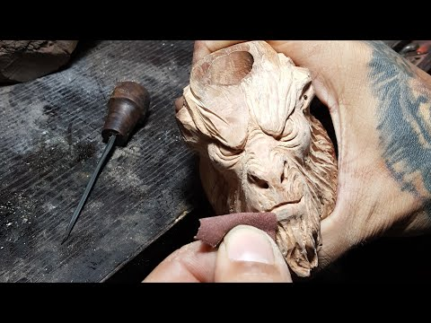 #Art #sculpture Wood carving smoking pipes.  Art of Sculpture . When a sculptor makes pipes.