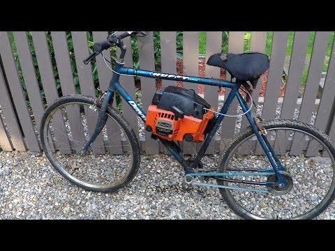 Chain saw bike