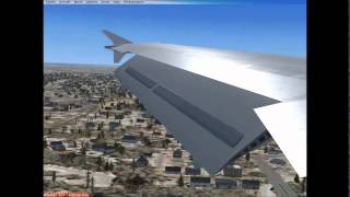 {FSX} Emirates A330 landing landing in Harts field Jackson Atlanta International Airport (US)