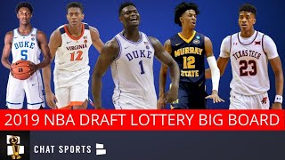 NBA Rumors: 2019 Draft Big Board - Top 14 Prospects For Lottery Ft: Zion Williamson and Ja Morant