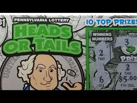 NEW...HEADS OR TAILS..WINNERS....$1 PA LOTTERY SCRATCH TICKETS