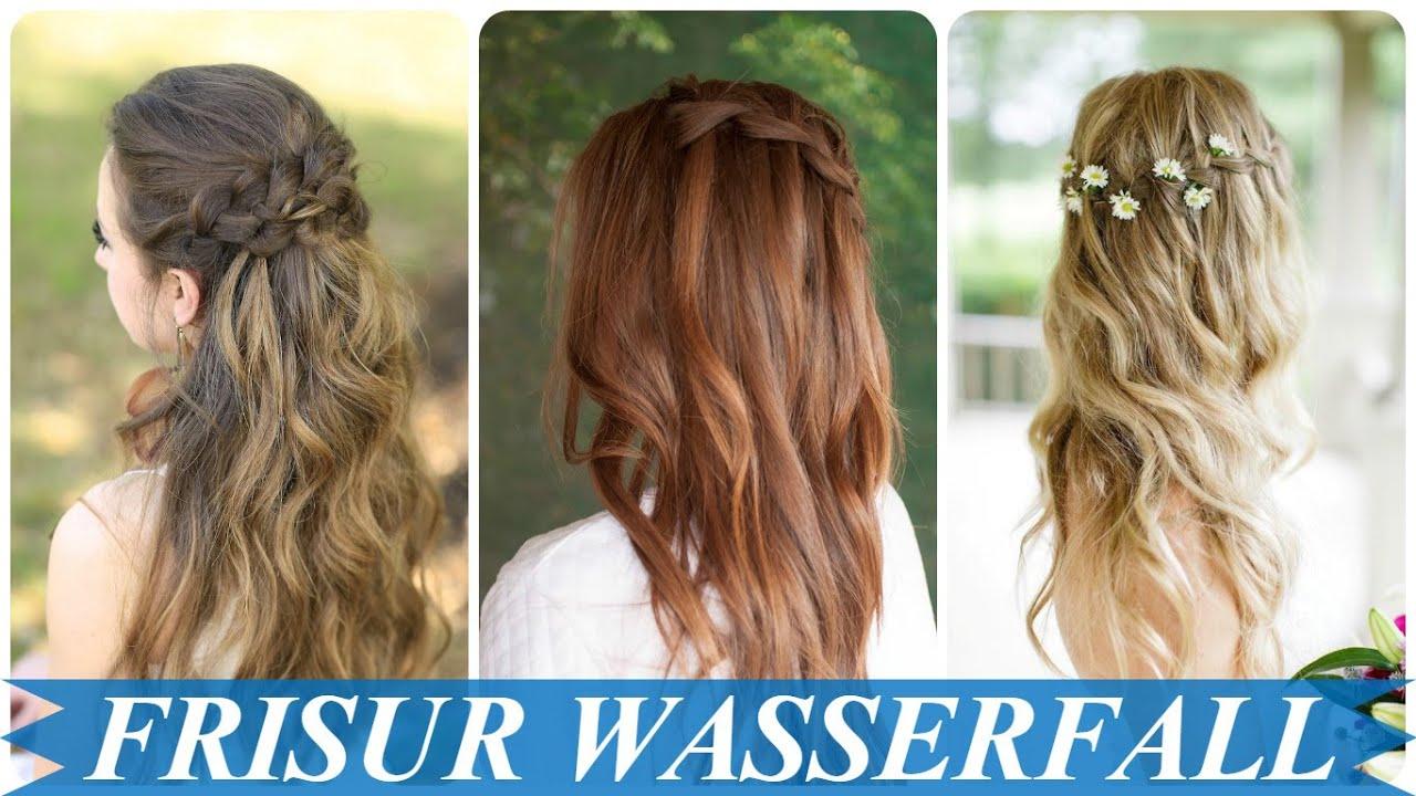 Frisuren Konfirmation Wasserfall Mittellange Haare