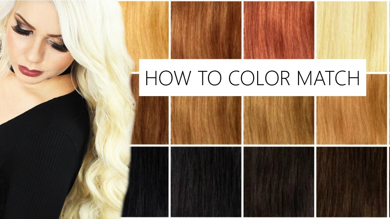 How To Color Match Your Natural Hair To Bombay Hair Extensions Youtube