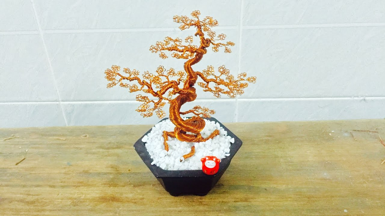 bonsai handmade how to make bonsai tree wire copper youtube rh youtube com Japanese Bonsai Trees Bonsai Copper Wire