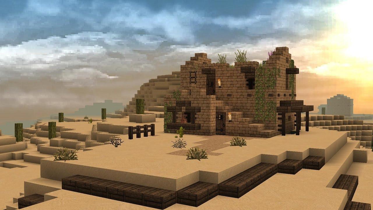 Minecraft Desert House Tutorial - YouTube