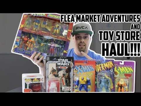 EPISODE 4 - FREE COMIC BOOK DAY FAIL! TOY HUNTING AT A FLEA MARKET!!