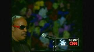 Michael Jackson  Memorial - Stevie Wonder - Never Dreamed You