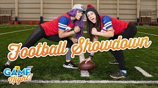 Sasha Banks vs. Bayley in a football showdown: WWE Game Night