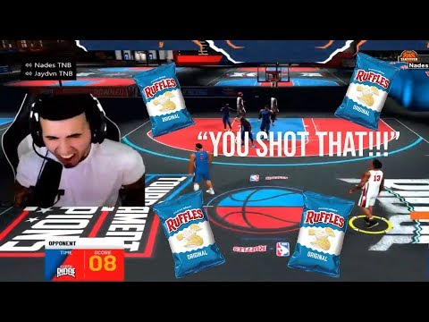 NADEXE vs GRINDING DF!! *NADEXE RAGES AFTER TEAMMATES SELL HIM - RUFFLES EVENT MATCHUP! NBA 2K20 *