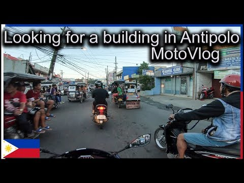 Looking for a building in Antipolo   MotoVlog