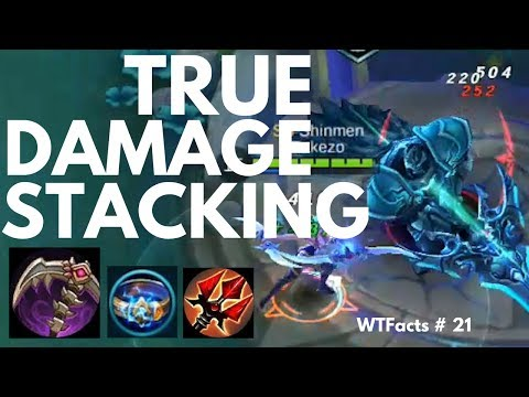 TRUE DAMAGE STACKING featuring CALAMITY REAPER   WTFacts # 21   Mobile Legends