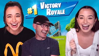 Our Dad Wins Playing Fortnite - Merrell Twins Live (highlight)