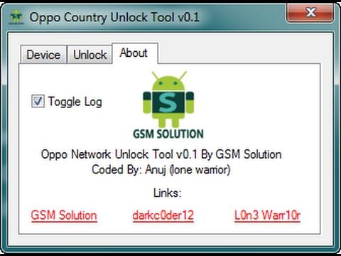 Oppo Network/Country Unlock Tool V0 1