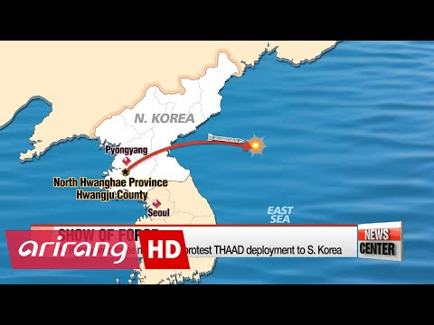 N. Korea fires three missiles in protest of THAAD deployment