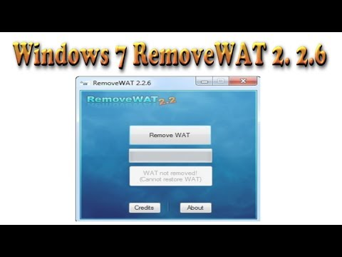 How To Remove WAT On Windows 7 For 32bit And 64bit