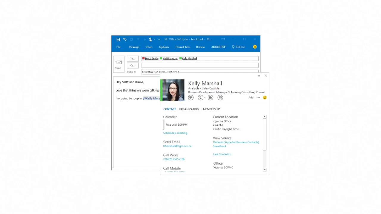 Office 365 Bytes    @Mentions in Outlook