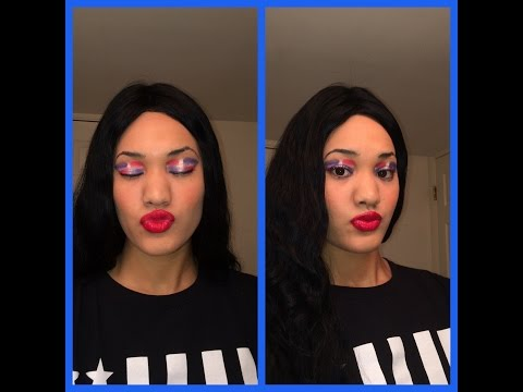 Dominican Republic flag makeup exotic