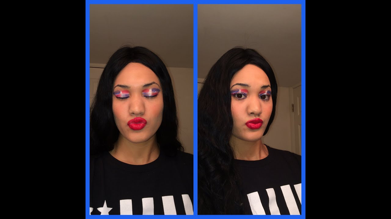 Dominican Republic flag makeup exotic  YouTube