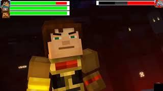 Minecraft Story Mode Season 2 - Final Battle ....With Healthbars [HD]
