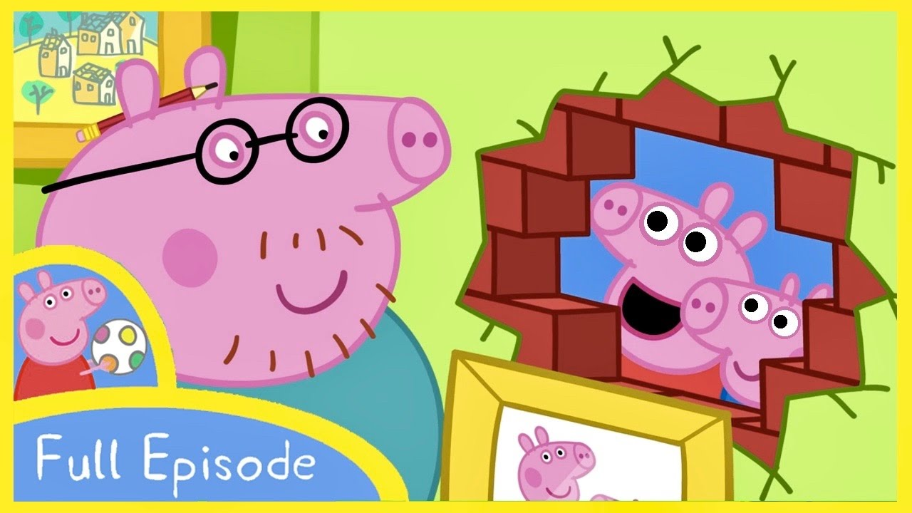 Peppa Pig Cartoon Hole In The Wall Peppa House Full Episode