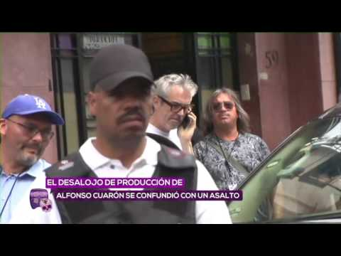 Desalojan filmación de Alfonso Cuarón a golpes
