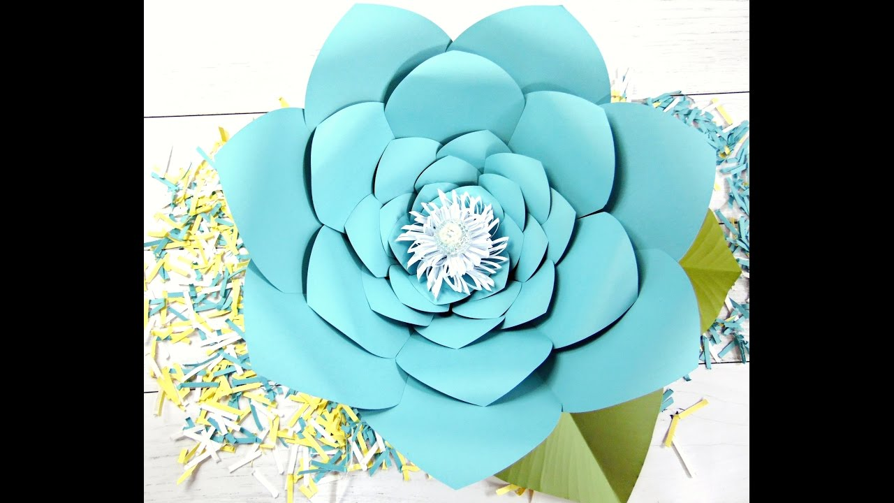 How To Make Giant Backdrop Paper Flowers Jasmine Style Youtube
