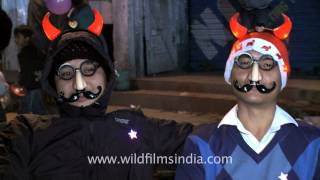 Indian Groucho glasses?? shoppers have fun during Christmas at Night Market - Nagaland
