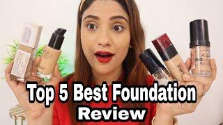 TOP 5 Best Foundation Reveiw || shystyles