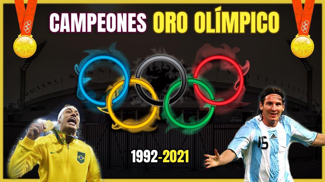 🥇 CAMPEONES del ORO OLÍMPICO de Fútbol (1992-2021) ⚽ Historia Juegos Olímpicos