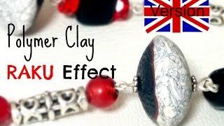 RAKU effect - Polymer clay tutorial English version