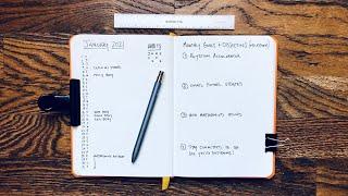 2021 Beginner Friendly Bullet Journal Setup