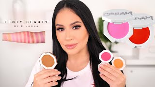 NEW FENTY BEAUTY CREAM BLUSH & CREAM BRONZERS - REVIEW + SWATCHES (ALL SHADES) | ROSITAAPPLEBUM 2020