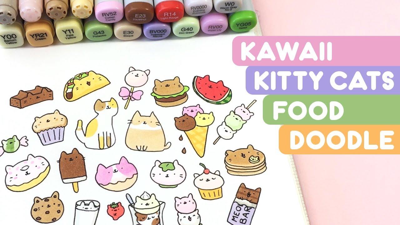 Kawaii Kitty Cats Food Doodle Kirakiradoodles Youtube