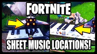 """Play the Sheet Music on the pianos near Pleasant Park and Lonely Lodge"" Guide (Fortnite Season 7)"