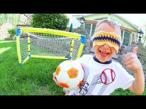 FATHER SON BLINDFOLDED SOCCER!