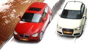 Audi A1 против BMW 1-er сравнительный видео-тест(То, что в городе удобнее ездить на компактных машинах, уже давно стало истиной. А вот степень этой компактно..., 2012-03-06T15:10:40.000Z)