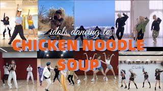 WHAT IF KPOP IDOLS DANCING TO 'CHICKEN NOODLE SOUP' BY JHOPE AND BECKY G WITH THEIR CHOREO?||Fanmade