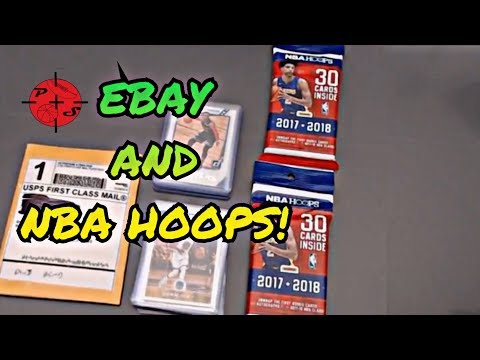 EBAY and 2017-2018 NBA Hoops Fat pack hanger pack basketball cards opening !