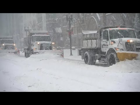 """Bomb cyclone"" winter storm hits Boston with snow, flooding"