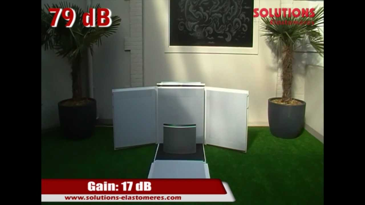 tests acoustiques mousse se40 melamine youtube. Black Bedroom Furniture Sets. Home Design Ideas