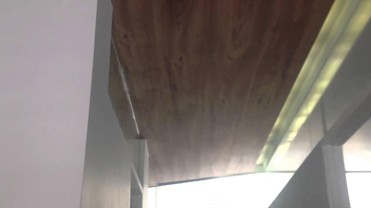 Piso laminado en plaf n techo youtube - Puertas de piso a techo ...
